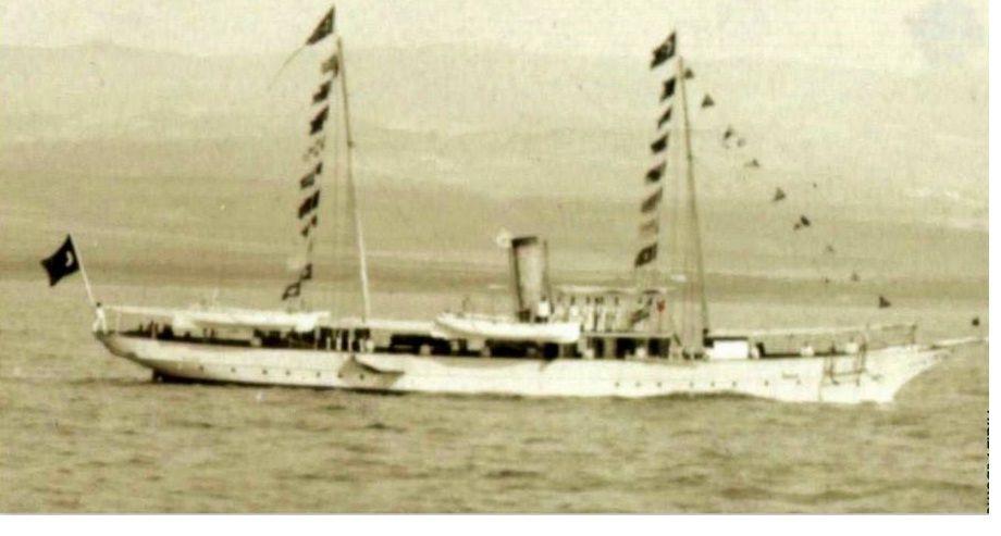 """Jahta """"Timsahˮ kod Crnogoraca poznata kao """"Zmajˮ poklon Abdul Hamida II, knjazu Nikoli"""