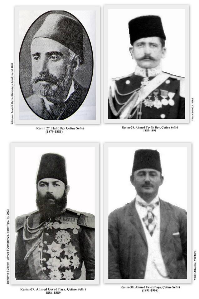 Poslanici Turskog poslanstva na Cetinju (Arhiv Istanbul Univerziteta - İstanbul Üniversitesi'nin Arşivi)