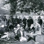 Albanski prvaci u razgovoru sa knjazom Mirkom Petrovićem Njegošem kod Skadra 1912. godine