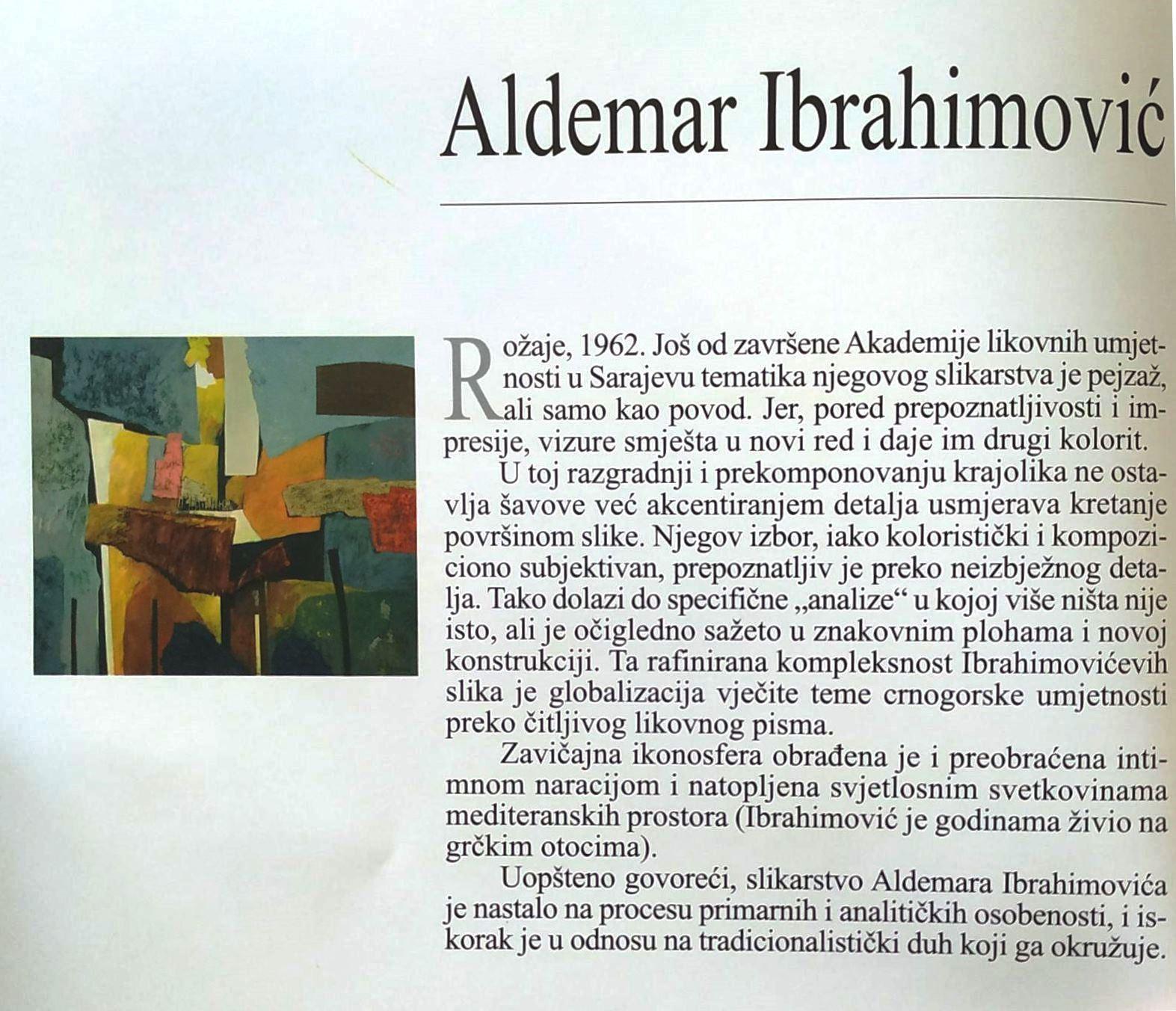 Aldemar Ibrahimović, kratka biografija