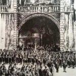Bokeljska mornarica, ispred katedrale Sv. Tripuna, Kotor, kraj XIX vijeka