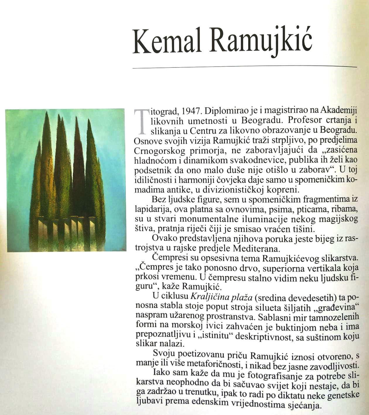 Kemal Ramujkić, kratka biografija