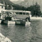 Nekadašnji prevoz trajektom, Boka Kotorska, 1957. godine
