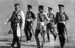 Kralj Nikola Petrović sa sinovima i unukom Aleksandrom Karađorđevićem